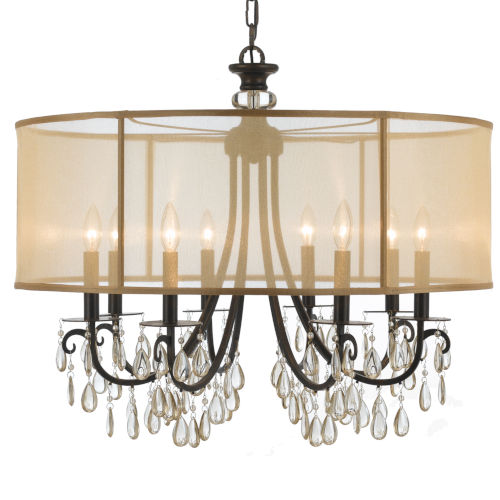 Hampton English Bronze Eight-Light Pendant