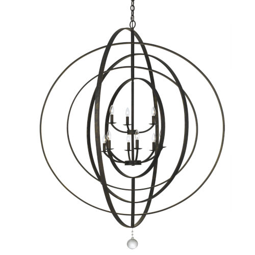 Luna English Bronze 48-Inch Nine-Light Chandelier