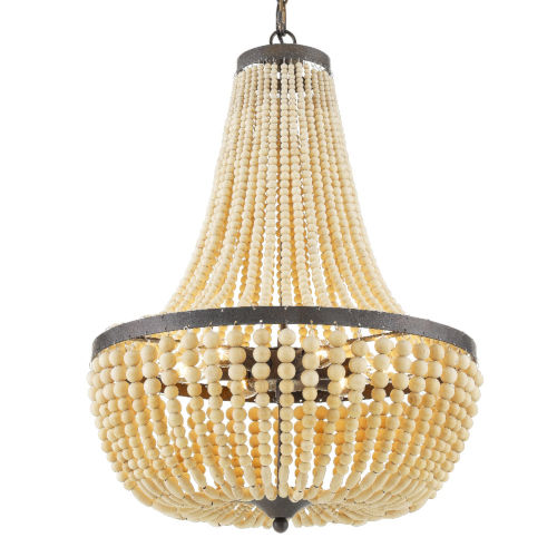 Rylee Forged Bronze Six-Light Chandeliers