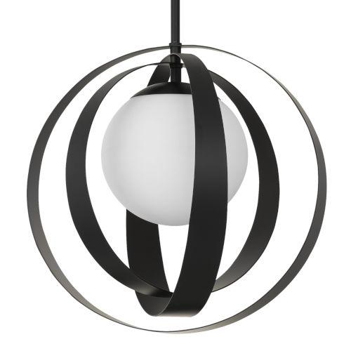 Arlo One-Light Matte Black Chandelier