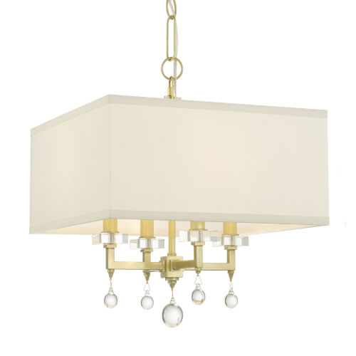 Paxton Antique Gold Four-Light Mini Chandelier