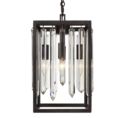 Hollis Forged Bronze Four-Light Chandelier