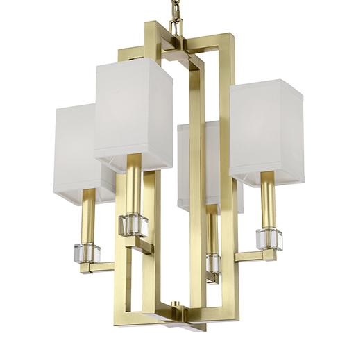 Dixon Aged Brass Four-Light Chandelier