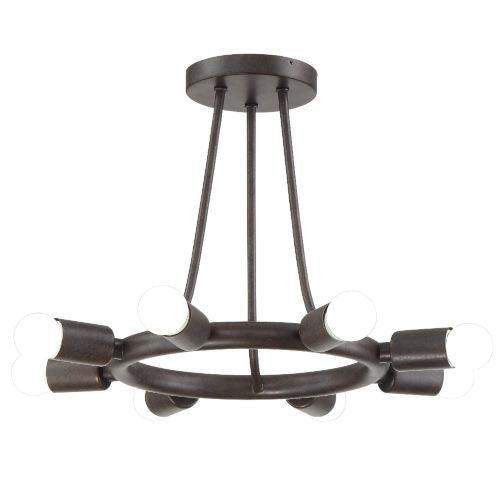 Dakota Charcoal Bronze Eight-Light Ceiling Mount