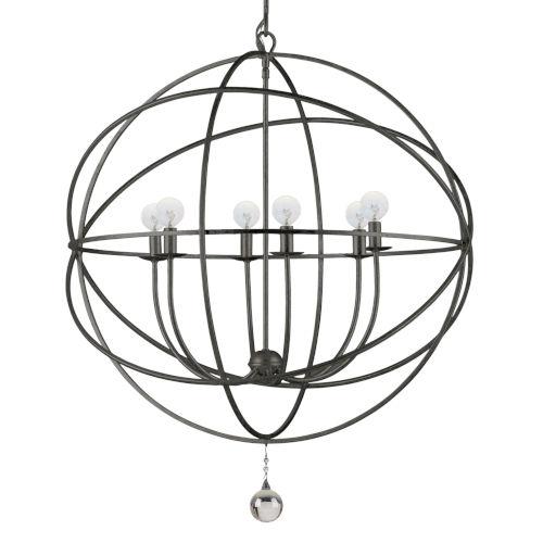 Solaris English Bronze Six-Light Chandelier