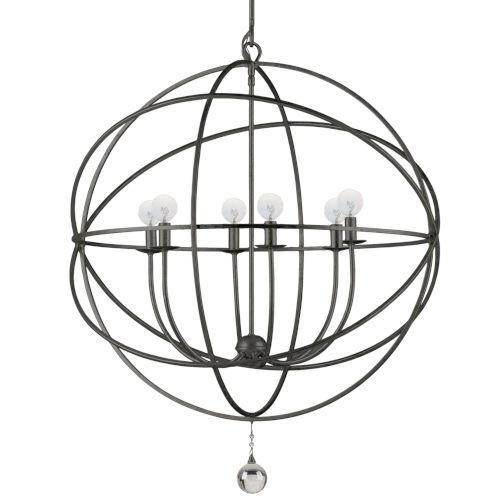 Solaris English Bronze Six-Light Pendant