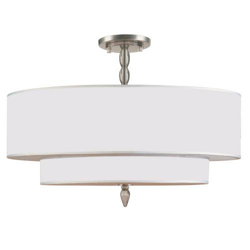 Luxo Satin Nickel Five Light Semi-Flush