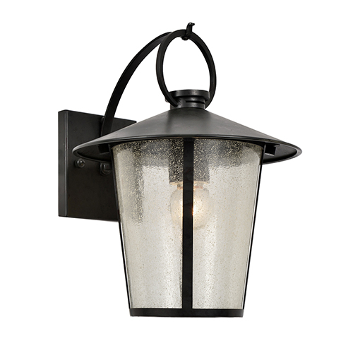 Crystorama Lighting Group Andover Matte Black One-Light Outdoor Wall Mount