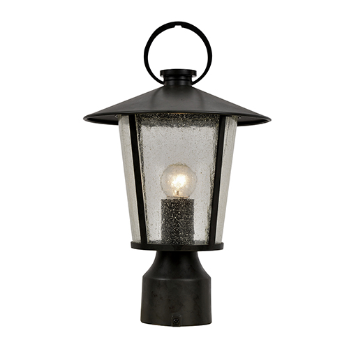 Andover Matte Black One-Light Outdoor Post Mount