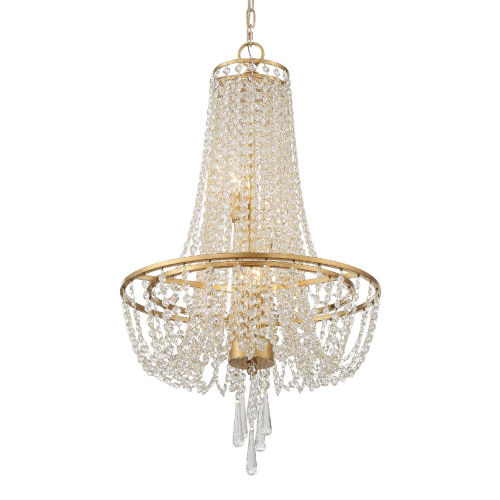 Arcadia Antique Gold 18-Inch Four-Light Chandelier