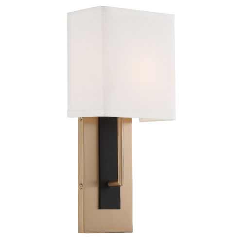 Brent Vibrant Gold and Black Forged Seven-Inch One-Light Wall Sconce