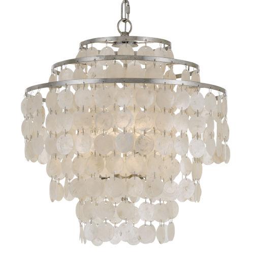 Brielle Four-Light Antique Silver Chandelier