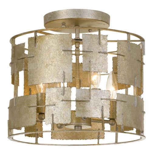 Bronson Four-Light Oxidized Silver Ceiling Mount