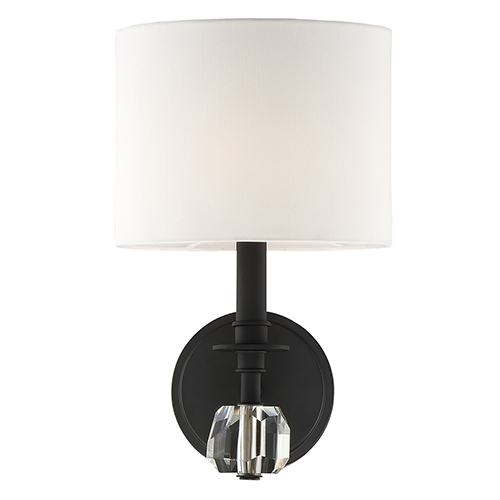 Crystorama Lighting Group Chimes Black Forged One-Light Wall Sconce
