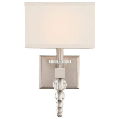 Crystorama Lighting Group Clover One Light Brushed Nickel Wall Sconce Clo 8892 Bn Bellacor