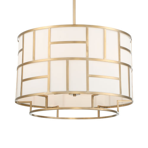 Danielson Vibrant Gold Six-Inch Chandelier