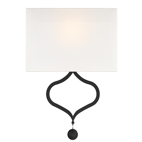 Crystorama Lighting Group Derby Black Forged Two-Light Wall Sconce