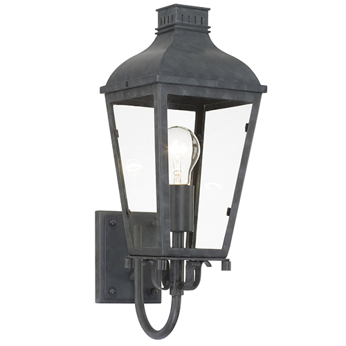 Crystorama Lighting Group Dumont Graphite One-Light Outdoor Wall Mount