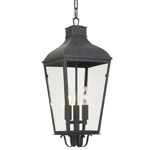 Crystorama Lighting Group Dumont Graphite Three-Light Outdoor Pendant