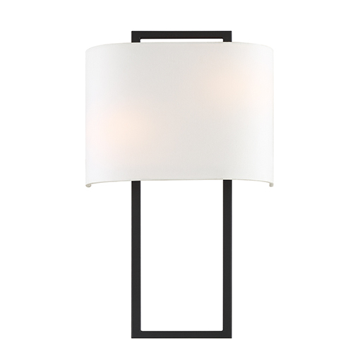 Crystorama Lighting Group Fremont Black Forged Two-Light Wall Sconce