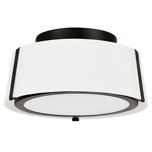 Crystorama Lighting Group Fulton Matte Black Two-Light Flush Mount