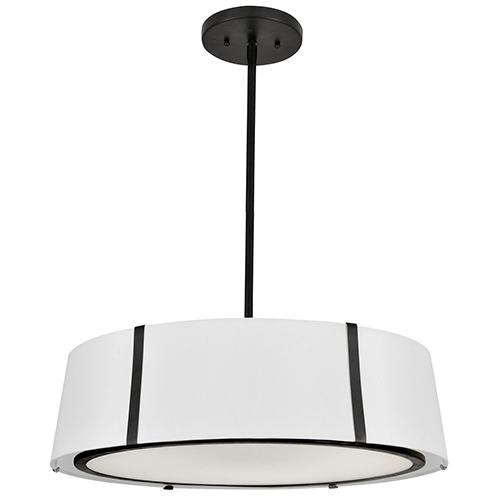 Crystorama Lighting Group Fulton Matte Black Six-Light Chandelier