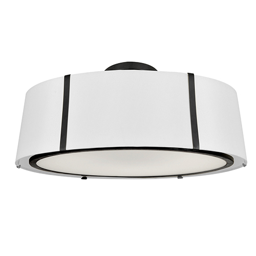 Crystorama Lighting Group Fulton Matte Black Six-Light Flush Mount