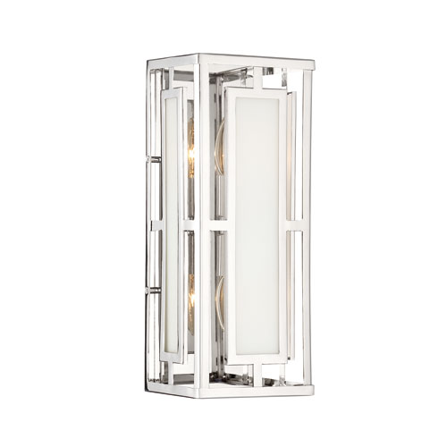 Hillcrest Polished Nickel Two-Light Sconce
