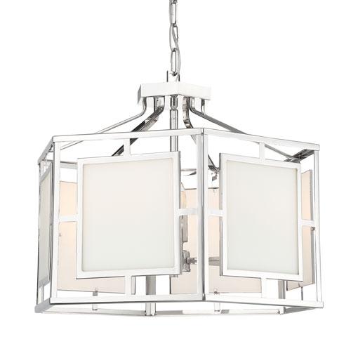Crystorama Lighting Group Hillcrest Polished Nickel 22-Inch Six-Light Chandelier