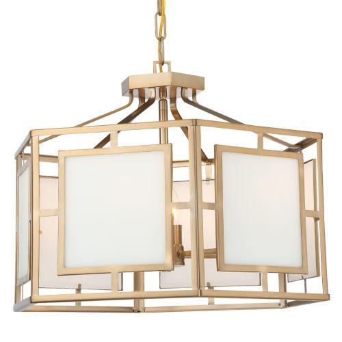 Hillcrest Vibrant Gold 22-Inch Six-Light Chandelier