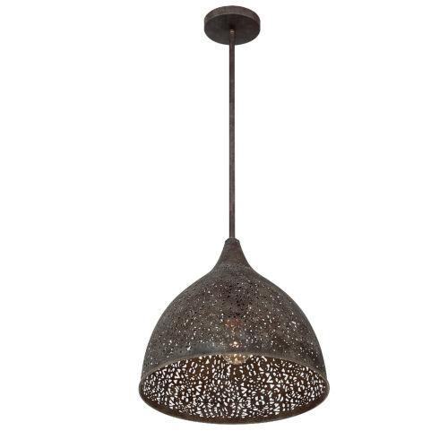 Jasmine Forged Bronze 14-Inch One-Light Pendant