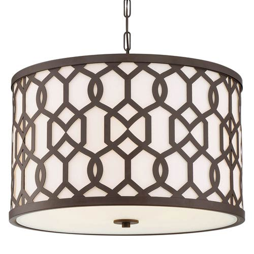 Jennings Dark Bronze Five-Light Outdoor Pendant
