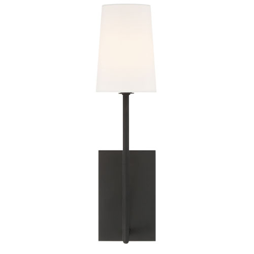 Lena One-Light Black Forged Wall Sconce