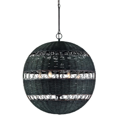Remy Forged Bronze 23-Inch Six-Light Chandelier