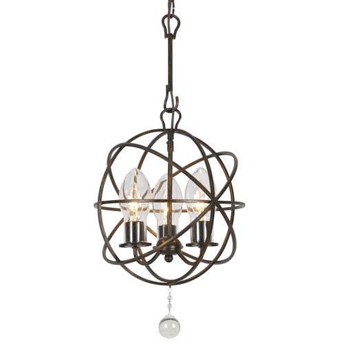 Crystorama Lighting Group Solaris English Bronze Three-Light Outdoor Chandelier