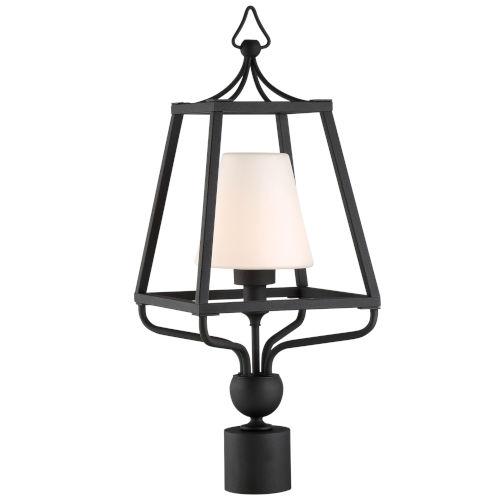 Sylvan One-Light Black Forged Outdoor Lantern Post