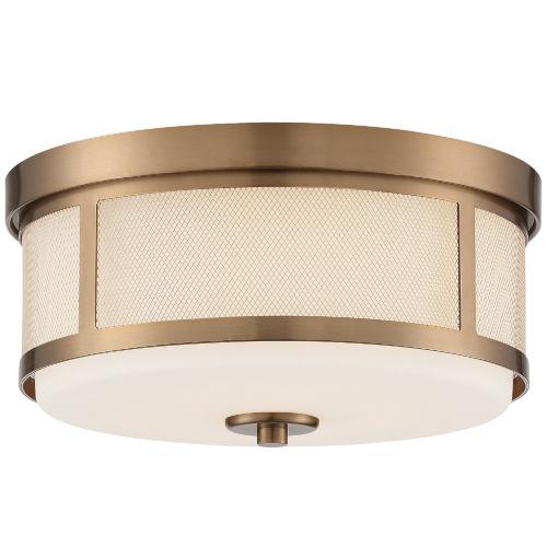 Trevor Vibrant Gold 14-Inch Two-Light Flush Mount