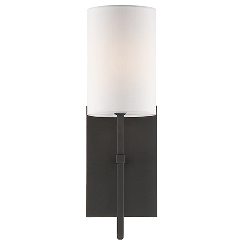 Crystorama Lighting Group Veronica Black Forged One-Light Wall Sconce