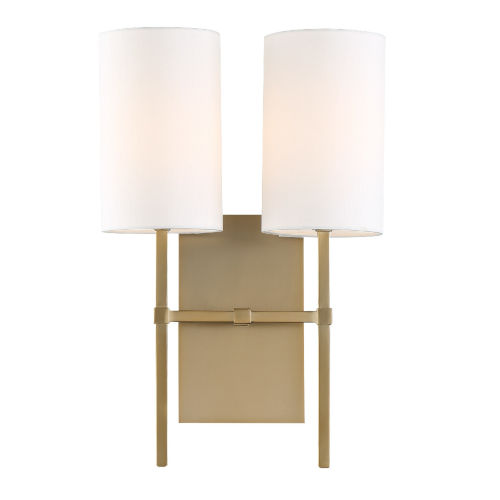 Veronica Two-Light Aged Brass Wall Sconce