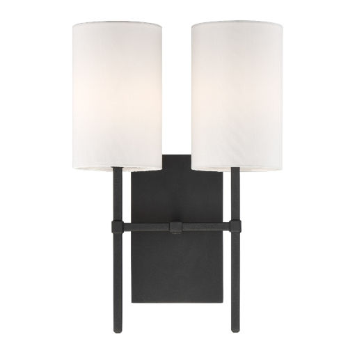 Veronica Black Forged Two-Light Wall Sconce