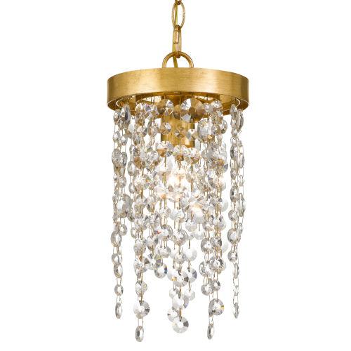 Windham Antique Gold One-Light Mini Pendant