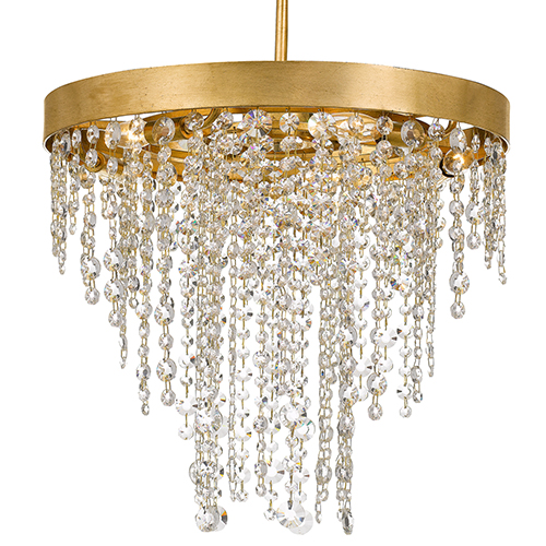 Windham Antique Gold Five-Light Chandelier