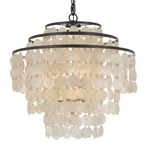 Elight Design Capiz Shell 18 Inch Four Light Bronze