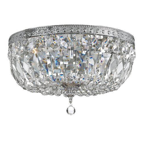 elight DESIGN Crystal 14-Inch Three-Light Chrome Ceiling Mount