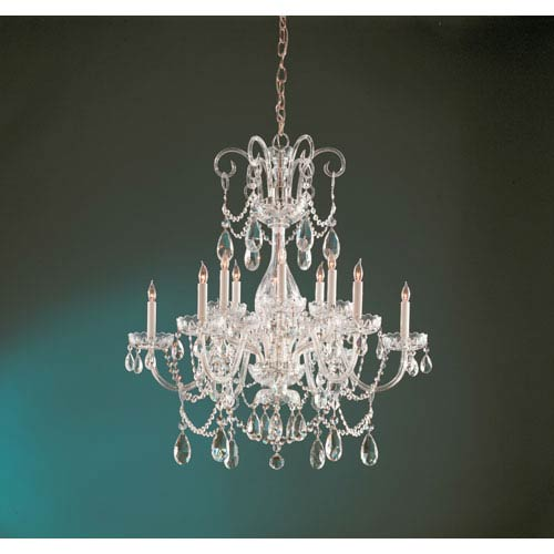 Crystorama Lighting Group Traditional Polished Brass Six-Light Chandelier with Clear Swarovski Strass Crystals