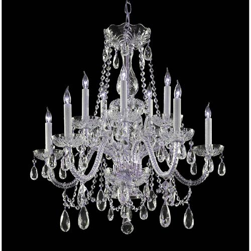 Crystorama Lighting Group Traditional Polished Chrome Five Light Swarovski Str Crystal Chandelier
