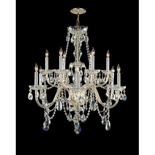 Traditional Crystal Hand Polished Crystal Chandelier
