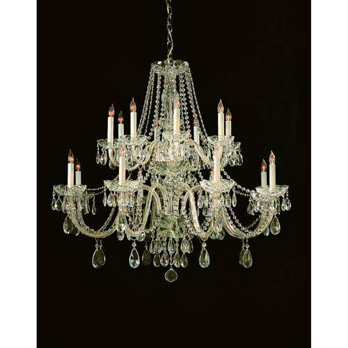 Crystorama Lighting Group Traditional Polished Brass Eight-Light Swarovski Strass Crystal Chandelier