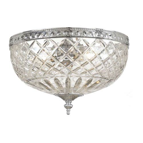 Crystal Flush Ceiling Light