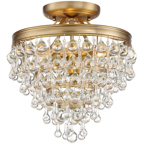 Crystorama Lighting Group Calypso Three Light Vibrant Gold Mini Chandelier